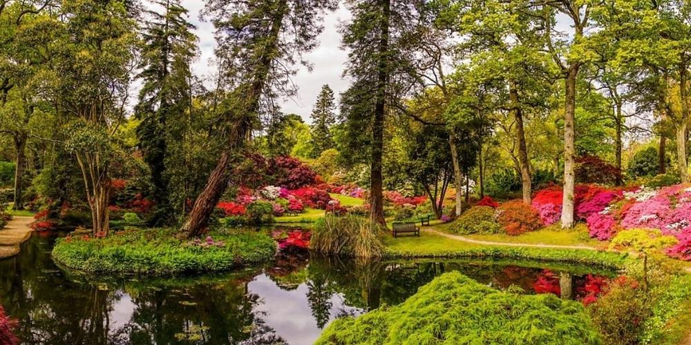 Exbury Gardens in Hampshire UK