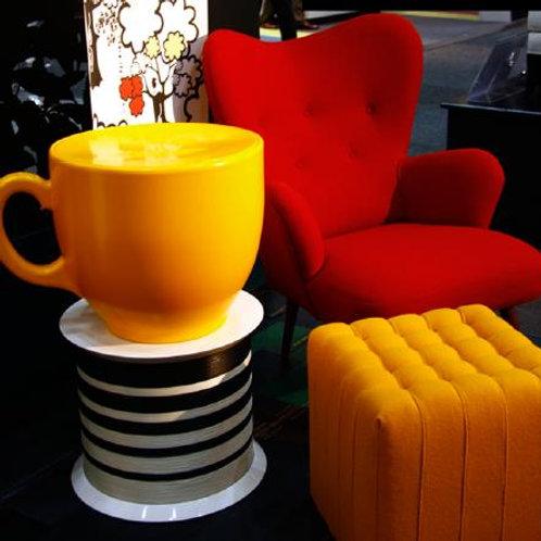 Tea Cup Stool - Yellow