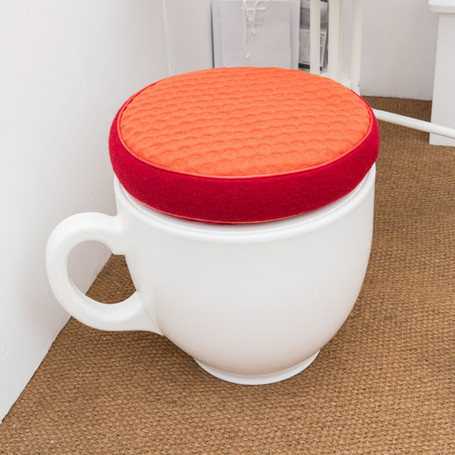 The Tea Cup Stool is available to hire too!