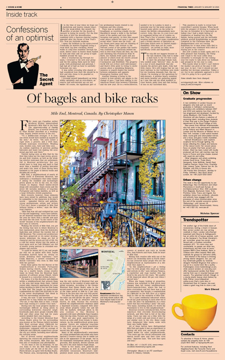 Financial Times, House&Home supplement_Jan2010