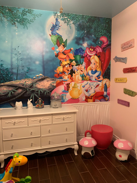 Alice Themed Child's Bedroom