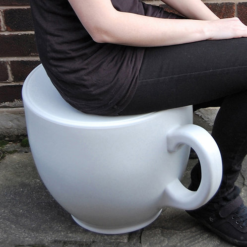 Tea Cup Stool - White