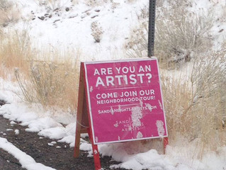 """Signage goes up in Sandia Heights as a """"Call to Artists"""""""