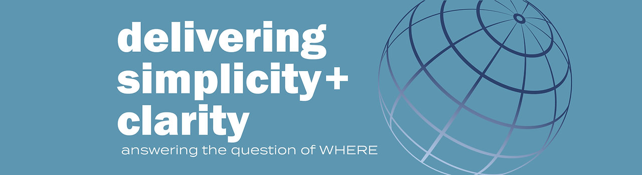 Delivering simplicity+clarity anwerig the question of where