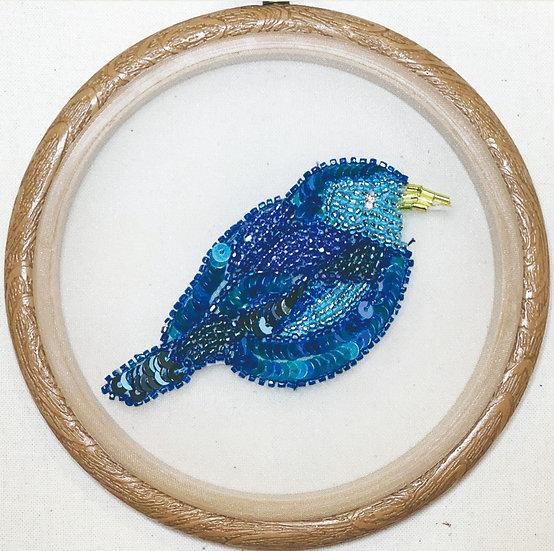 青い鳥【 ビーズ&スパンコール】