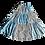 Thumbnail: パッチワークのギャザースカート【 ブルー 】
