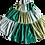 Thumbnail: パッチワークのギャザースカート【 グリーン 】