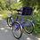 велосипед с детским креслом и корзиной
