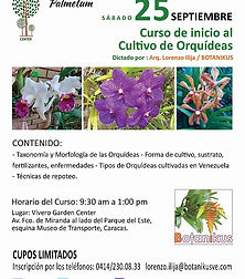 Nuevo Curso Inicio al Cultivo de Orquideas* 25 de septiembre, Caracas