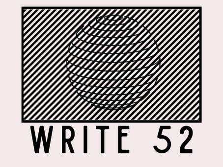 Jumping on the #Write52 bandwagon