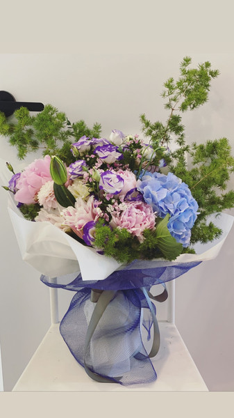 Omakase vibrant bespoke with with peonies