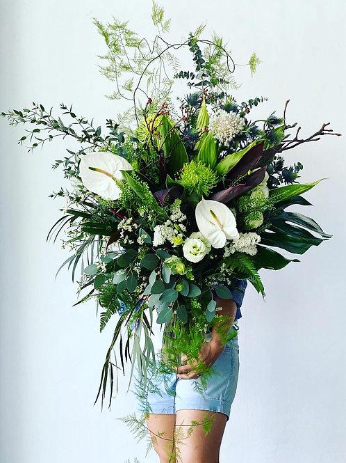 Big S bouquets in vase (foliage extravaganza)