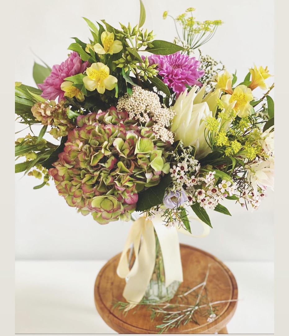 Vibrant with king protea
