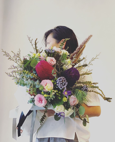 Omakase bespoke with proteas and banksias