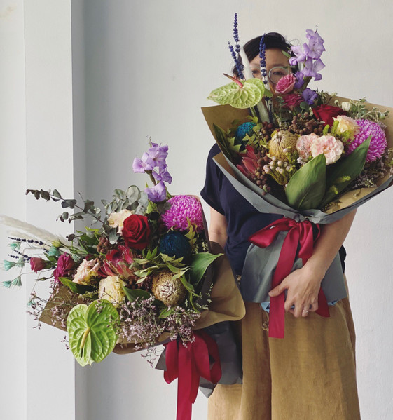 Valentine's Day omakase bespoke with proteas and banksias