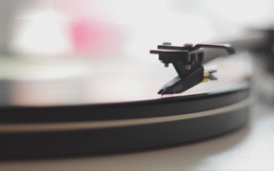 Closeup of Record Player