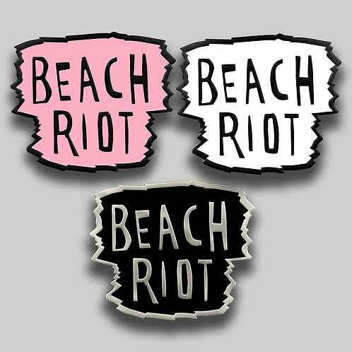 BEACH RIOT PIN BADGE