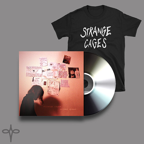 STRANGE CAGES - SILVER QUEEN EP - CD AND TSHIRT