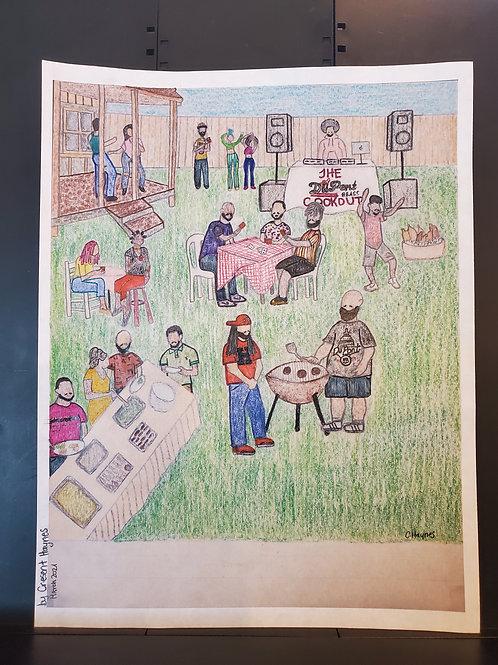 Original Artwork for Rhythm & Grills Flyer