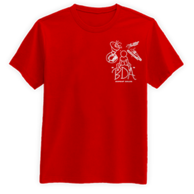 "Red ""BDA"" DuPont Brass T-Shirt"