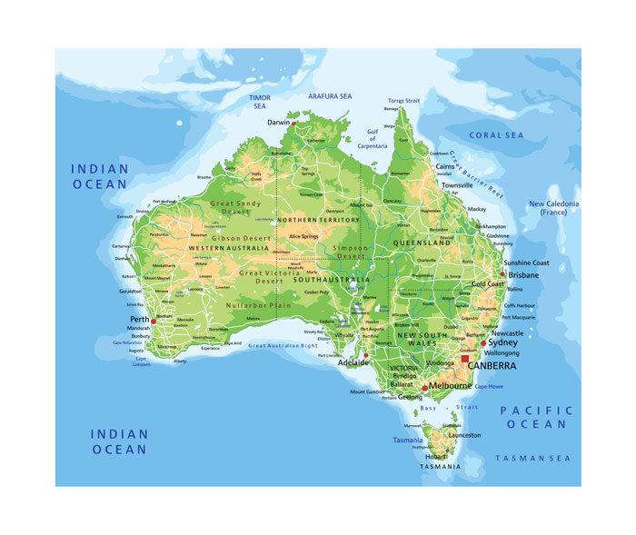 Topographic Map of Australia | Love Your Walls