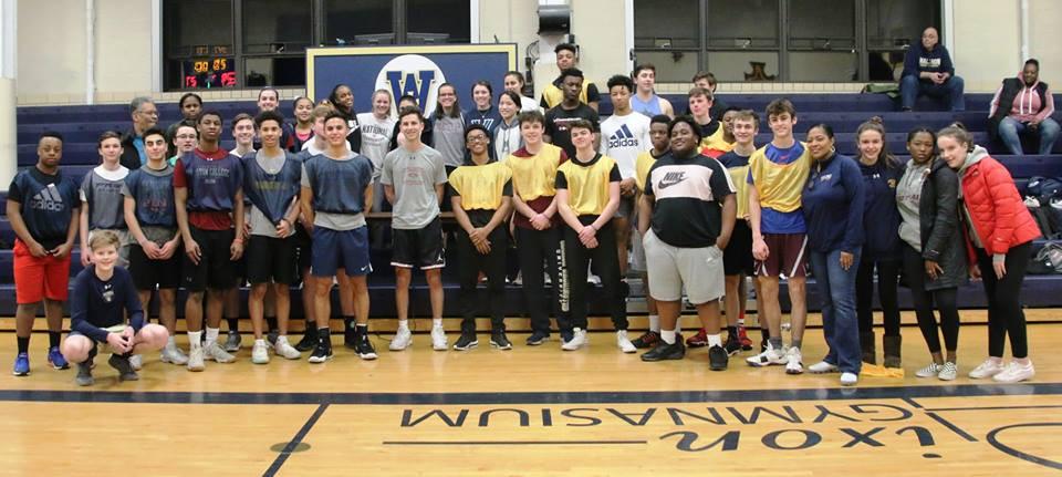 Waldron Mercy Academy alumni attend annual basketball event.