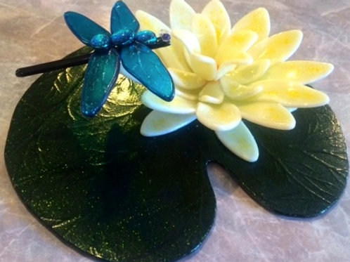 Water Lily & Dragonfly