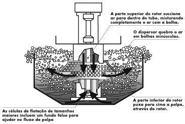 Exemplo de uma célula de flotação