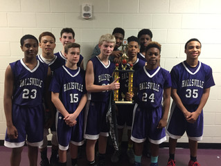 Hallsville 7th Grade A Team South Zone Champs!