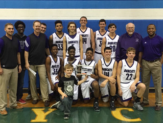 Hallsville Bobcats Tournament Champions at Rains ISD Thanksgiving Tip-Off!