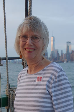 Mary Dana Marks sailing in New York harbor.