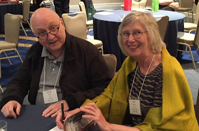 Mary Dana Marks signed copy of Walled In, Walled Out at Peace Corps Iran Association Annapolis conference.