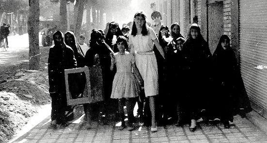 Kerman girls on way to orphanage.