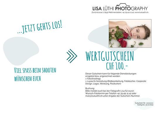 Gutscheine bei Lisa Lüthi Photography