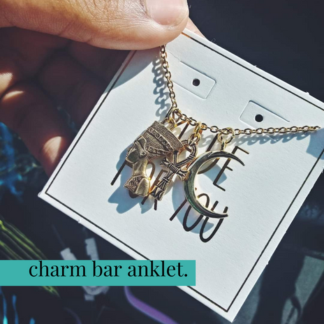 Charm Bar Anklet_ Bracelet