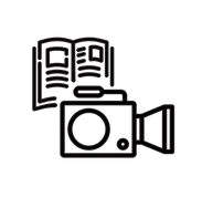 "Illustration of a video camera and a magazine ビデオカメラと雑誌のイラスト Icons made by <a href=""https://www.flaticon.com/authors/itim2101"" title=""itim2101"">itim2101</a> from <a href=""https://www.flaticon.com/"" title=""Flaticon""> www.flaticon.com</a> Icons made by <a href=""https://www.flaticon.com/authors/wanicon"" title=""wanicon"">wanicon</a> from <a href=""https://www.flaticon.com/"" title=""Flaticon""> www.flaticon.com</a>"