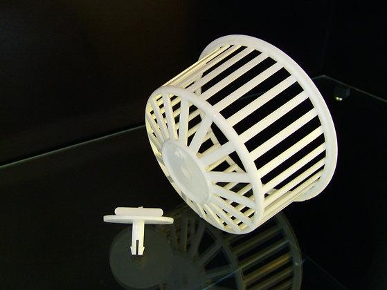 Hamster Wheel clip in cage side
