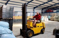 Our forklift driver
