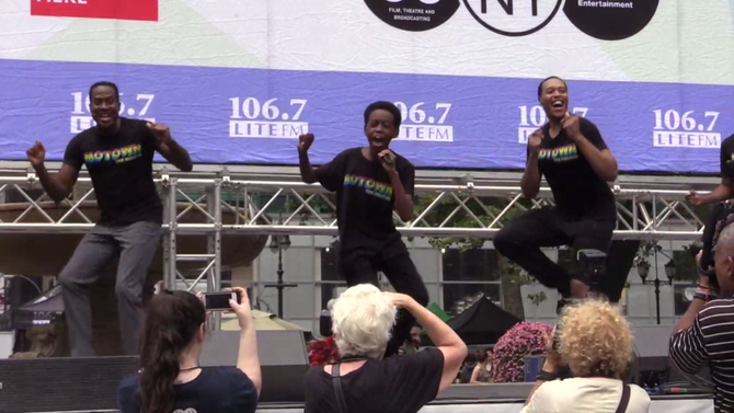Bryant Park Gets Its Groove On with the Cast of MOTOWN!