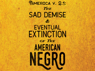 America V. 2.1: The Sad Demise and Eventual Extinction of the American Negro - Upcoming at Barringto