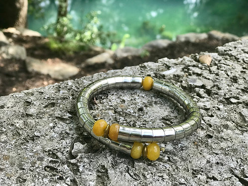 Yellow Agate Neck Cuff