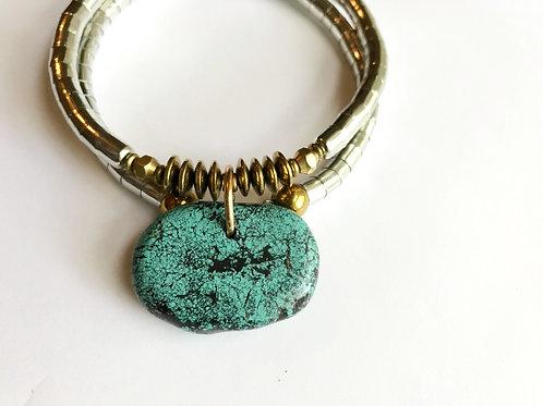 Large Turquoise Pendant Necklet