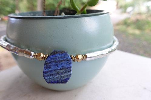 Lapis Lazuli Single Slab Necklet