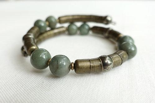Jade + Pyrite Armlet