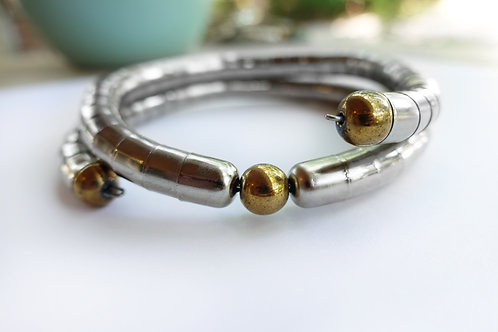 Simple Gold Hematite Necklet