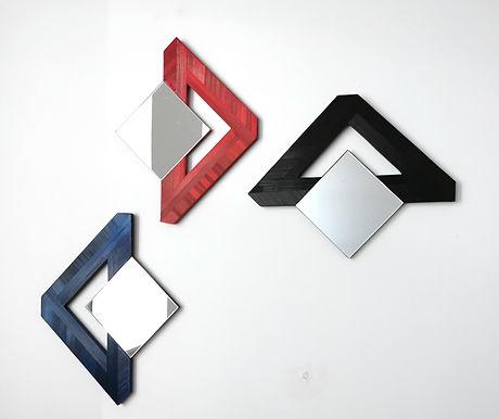 Miroir design marqueterie de paille / Mirror design with marquetry of straw.jpg