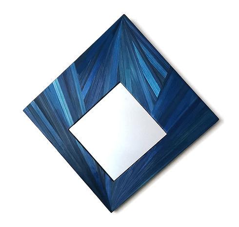 Miroir marqueterie de paille rayonnant b