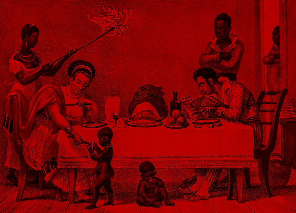 A Brazilian family in Rio de Janeiro by Jean-Baptiste Debret 1839