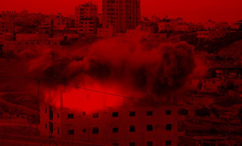 La demolición con excavadoras y explosivos afecta a una zona adscrita a la Autoridad Palestina