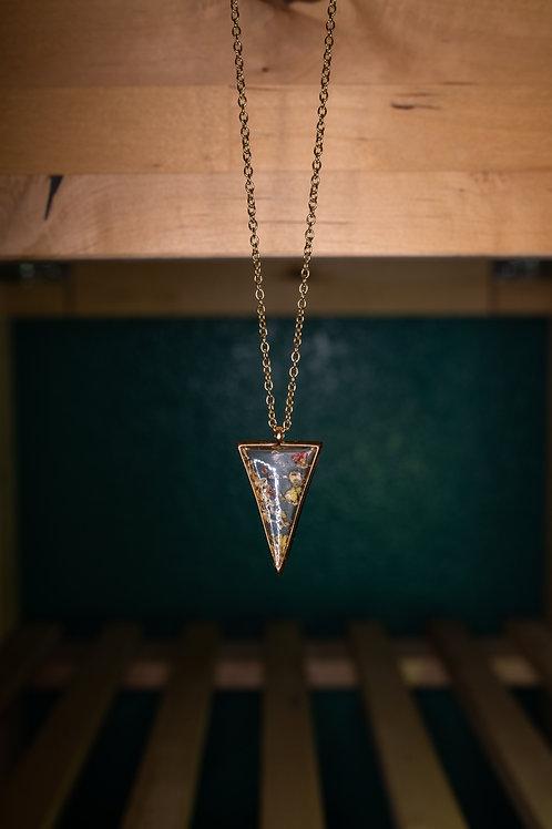 Triangle Multi Flower Necklace